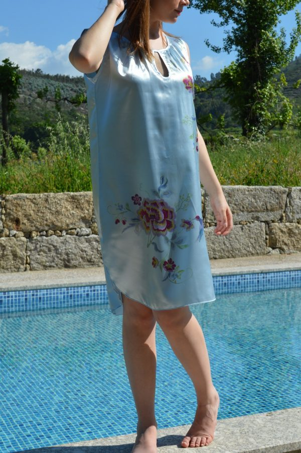 Sustainable nighshirt with print Blue